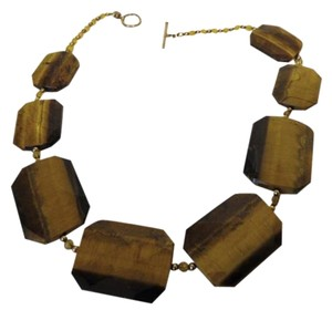 Colleen Lopez Colleen Lopez Tiger's Eye Gemstone Toggle Necklace 18