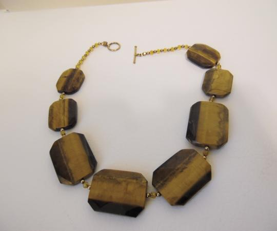 Colleen Lopez Colleen Lopez Tiger's Eye Gemstone Toggle Necklace 18""