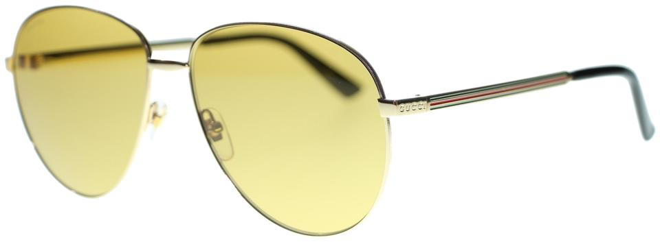 ed944930ed5 Gucci Gucci Aviator Sunglasses GG0138S 002 Gold with Brown Lens Image 0 ...