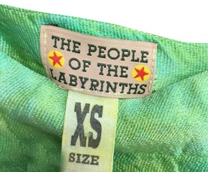 THE PEOPLE OF THE LABYRINTHS Mini Skirt green