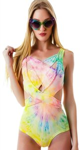 UNIF Shorebreak Tie-Dye Monokini Cut-Out