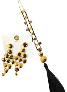 Gorjana Leucadia Beaded Tassel Necklace and matching earrings