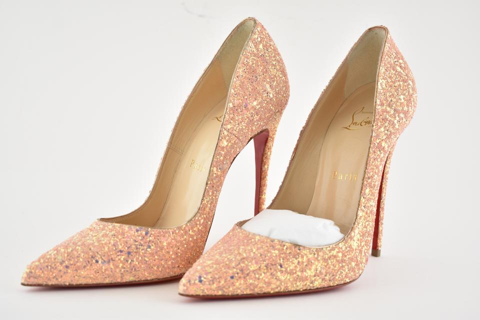 13824aed0f8 Christian Louboutin Pink So Kate 120 Pompadour Glitter Dragonfly Heel Pumps  Size EU 38 (Approx. US 8) Regular (M, B)