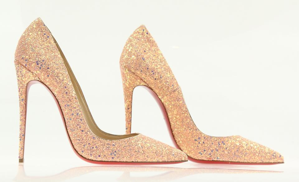 1683a3e54a1c Christian Louboutin Sokate Kate Pigalle Stiletto Glitter Pink Pumps Image  11. 123456789101112
