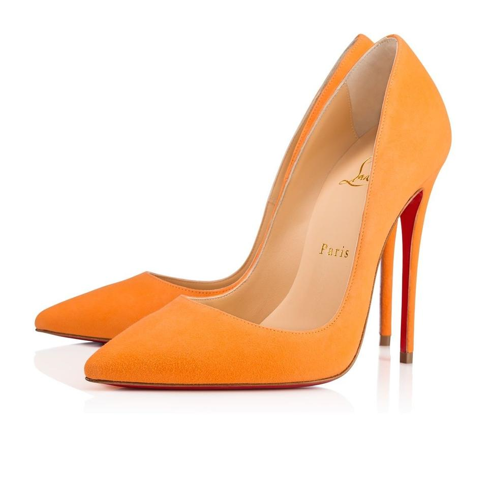 fcbd37f7810f Christian Louboutin Sokate Kate Pigalle Stiletto Suede orange Pumps Image 0  ...