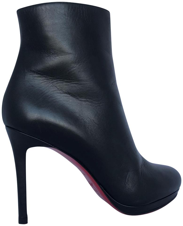 134ee522c9f Christian Louboutin Thigh High Platform Heel Black Ankle Boots Image 0 ...