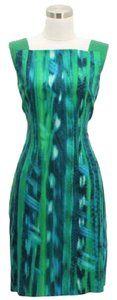 Elie Tahari short dress Green Blue on Tradesy