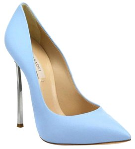 Casadei Pointed Toe Leather Stiletto Classic Blue Pumps