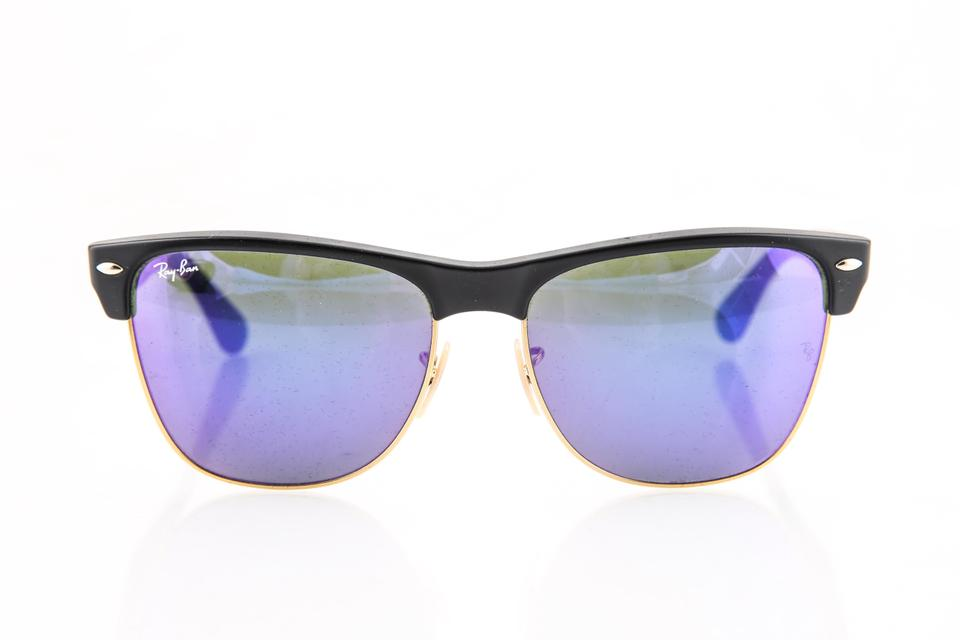 b0429b15ce9 Ray-Ban Ray-Ban Clubmaster Matte Black with Purple Mirror Lenses Sunglasses  Image 0 ...