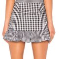 Lovers + Friends Mini Skirt Black and White Gingham Image 1