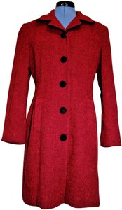 Barami Vintage Fitted Retro Houndstooth Trench Coat
