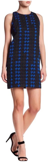 Item - Blue/Black A-line Pattern Shift Short Night Out Dress Size 6 (S)