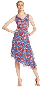 Violet / Blue / Red Maxi Dress by Rachel Roy V-neck Floral Sleeveless A-line Flowers