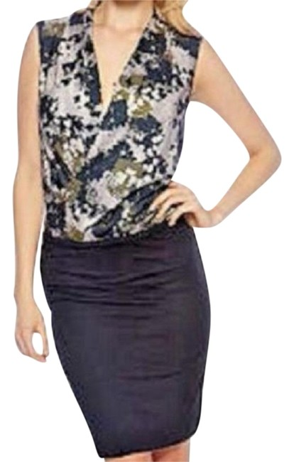 Item - Black Camouflage Mid-length Night Out Dress Size 4 (S)