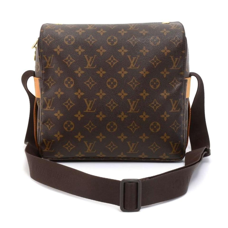 7ee2d15fa4b7 Louis Vuitton Naviglio Monogram Brown Canvas Messenger Bag - Tradesy