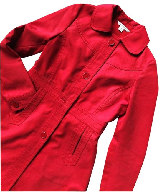 Item - Red Structured Cherry Jacket Coat Size 8 (M)