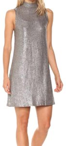 Kensie short dress Silver on Tradesy