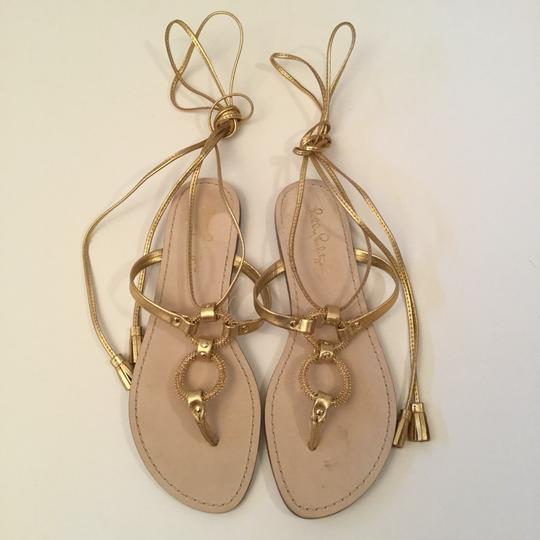 Lilly Pulitzer gold Sandals Image 1