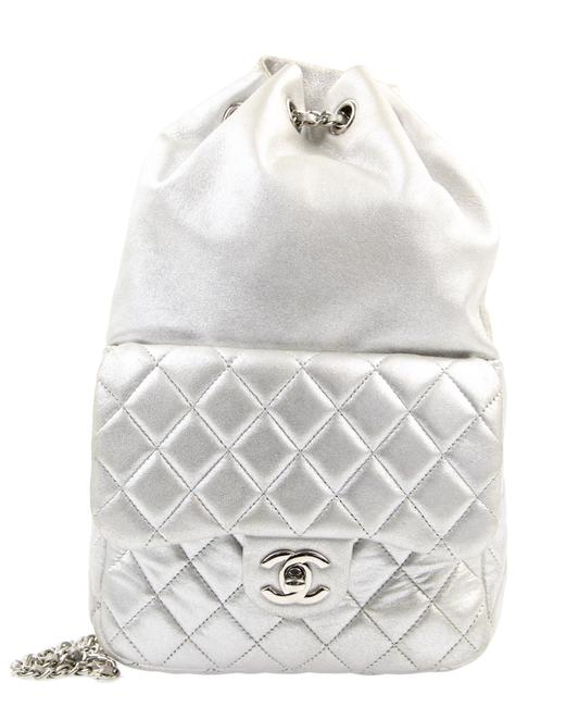 Item - Small In Seoul Silver Leather Backpack