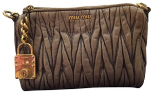Miu Miu Grey Clutch