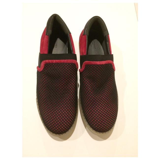 Item - Black/Red New Slip Mesh Suede Leather Sneakers Size EU 41 (Approx. US 11) Regular (M, B)