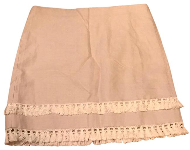 Item - Tan Fringe Skirt Size 14 (L, 34)