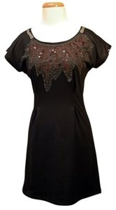 Miss Me short dress Black W/ Low Cut Beading Sequins And on Tradesy