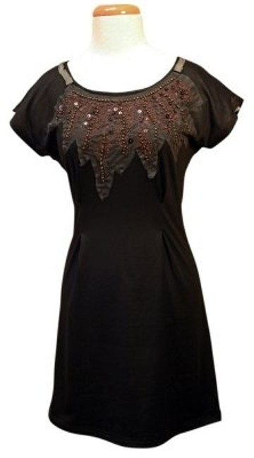 Preload https://img-static.tradesy.com/item/23482/miss-me-black-w-low-cut-beading-sequins-and-above-knee-short-casual-dress-size-8-m-0-0-650-650.jpg