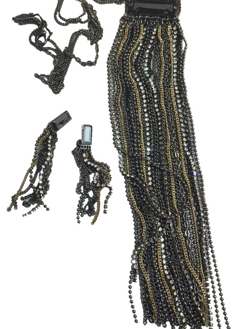 Item - Gunmetal and Gold Cache Necklace