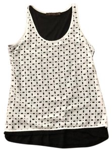 The Limited Top Black with White