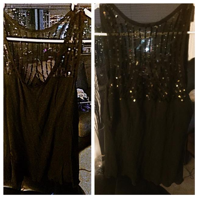 BCBG Max Azria Top Black With Black Sequin