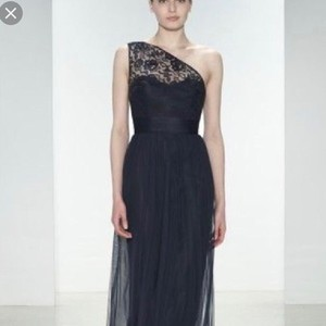 a2423cf1cae5 Amsale Navy Lace and Tulle G868 Modest Bridesmaid/Mob Dress Size 10 (M)