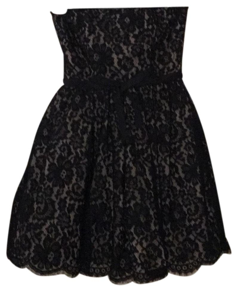 8b8635f95ea9 Robert Rodriguez Black and Tan Strapless Cocktail Dress Size 4 (S ...