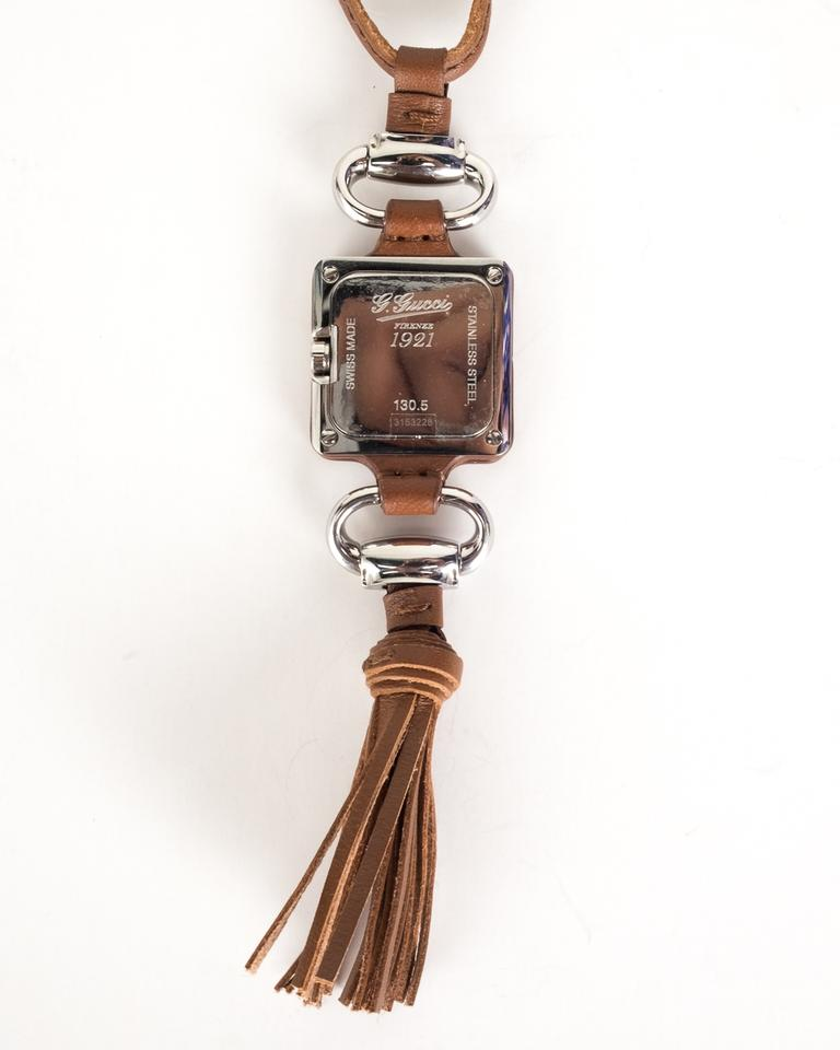 Gucci brown leather pendant necklace watch tradesy watch pendant necklace 1234567 aloadofball Gallery