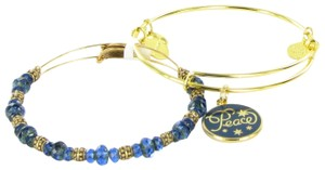 Alex and Ani Peace Set of 2 Navy Blue Color Infusion Gold Bracelet 2016