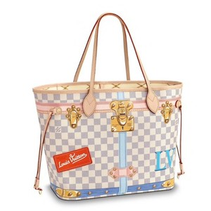 Louis Vuitton Tote in White / Blue