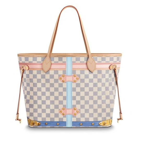 Louis Vuitton Tote in White / Blue Image 4