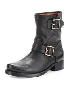 Frye Leather Buckle Mid-calf Boots