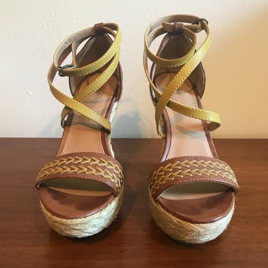 Mossimo Supply Co. Boho Bohemian Wedgesandals Festival Bohosandals Brown & Gold Sandals Image 2