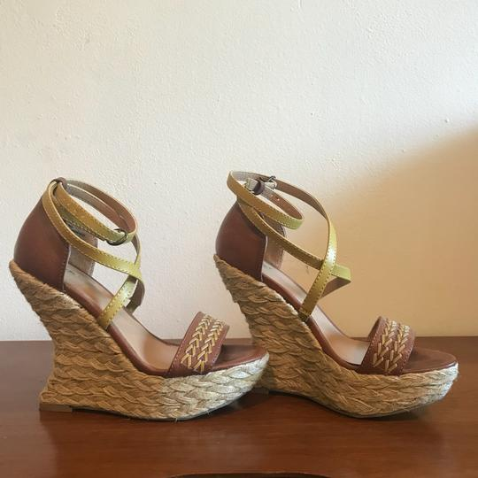 Mossimo Supply Co. Boho Bohemian Wedgesandals Festival Bohosandals Brown & Gold Sandals Image 3