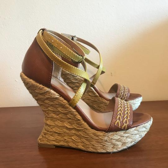 Mossimo Supply Co. Boho Bohemian Wedgesandals Festival Bohosandals Brown & Gold Sandals Image 4