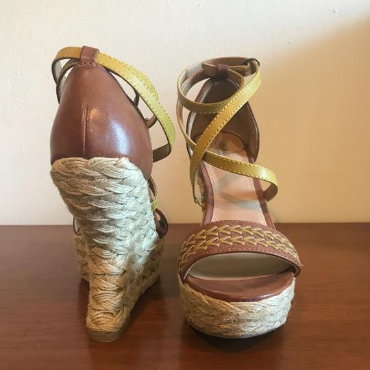 Mossimo Supply Co. Boho Bohemian Wedgesandals Festival Bohosandals Brown & Gold Sandals Image 5