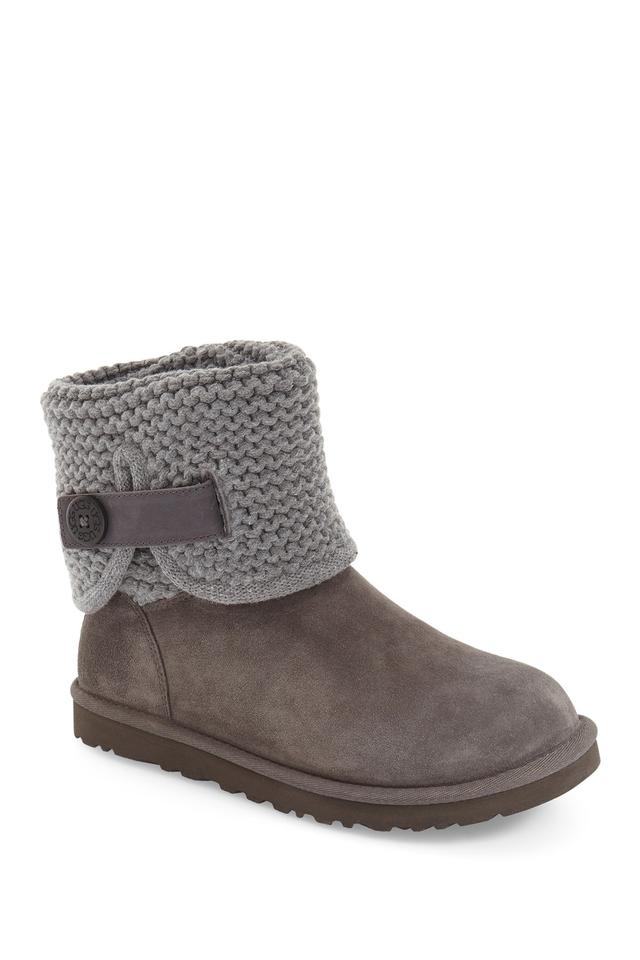 15954d1ceed UGG Australia Gray Shaina Knit Suede Boots/Booties Size US 6 Regular (M, B)  28% off retail