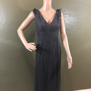 8a7fafbad6 Amsale Charcoal Gray Silk Formal Traditional Bridesmaid Mob Dress Size 18  (XL