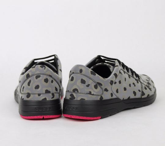 Gucci Gray Reflex Leopard Print Running Sneakers 9.5 G/ Us 10 368485 1400 Shoes Image 4