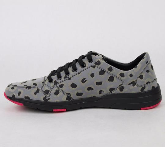 Gucci Gray Reflex Leopard Print Running Sneakers 9.5 G/ Us 10 368485 1400 Shoes Image 6