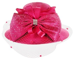 kentucky derby hat New Formal Dressy Church Hat Large Bow on Front Netting Braid Hat