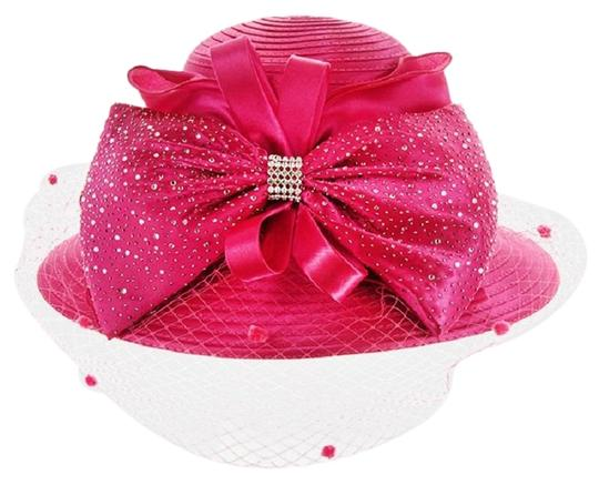 Preload https://img-static.tradesy.com/item/23483157/pink-new-formal-dressy-church-large-bow-on-front-netting-braid-hat-0-1-540-540.jpg