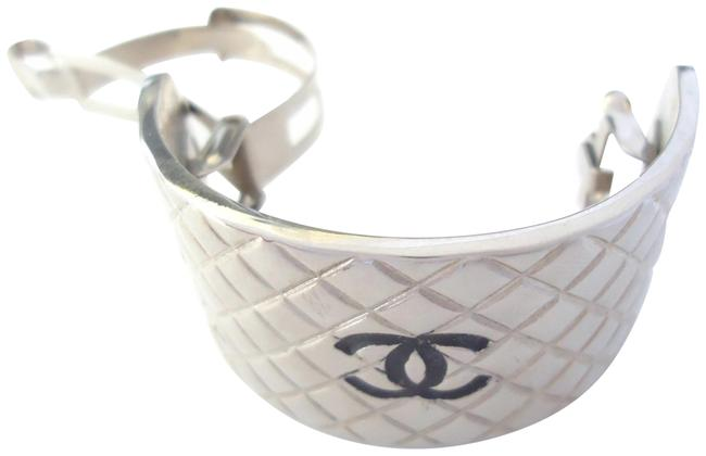 Item - Silver Plated Cc Logos Color Barrettes Very Simple Pin Hair Accessory