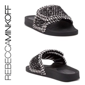 Rebecca Minkoff black and white Sandals